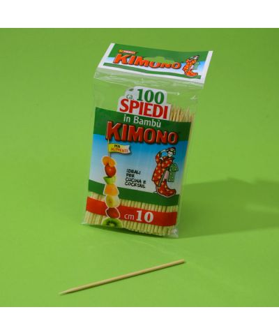 STECCONI SPIEDO KIMONO Cm.10 x 100 PZ.