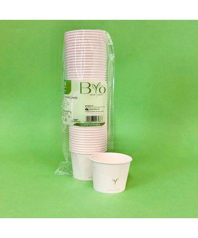BICCHIERE 120 cc CAFFE' CART.+PLA x 50 PZ. - ART.570002